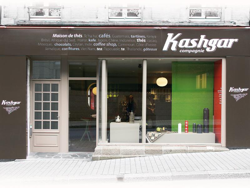 Vitrine du magasin Kashgar