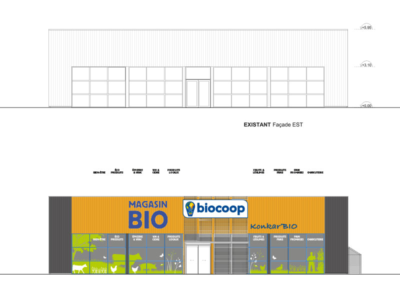Habillage de magasin BIOCOOP