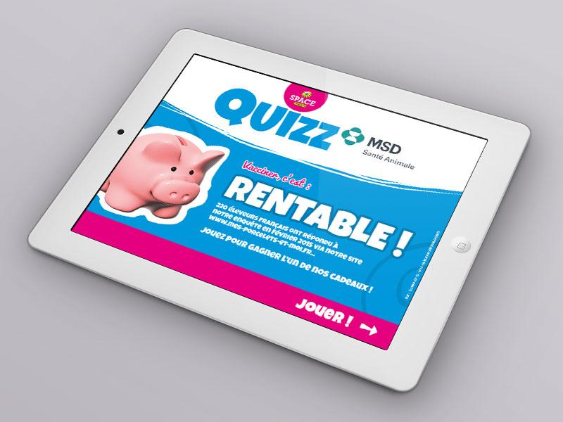 MSD Porcs, le jeu iPad