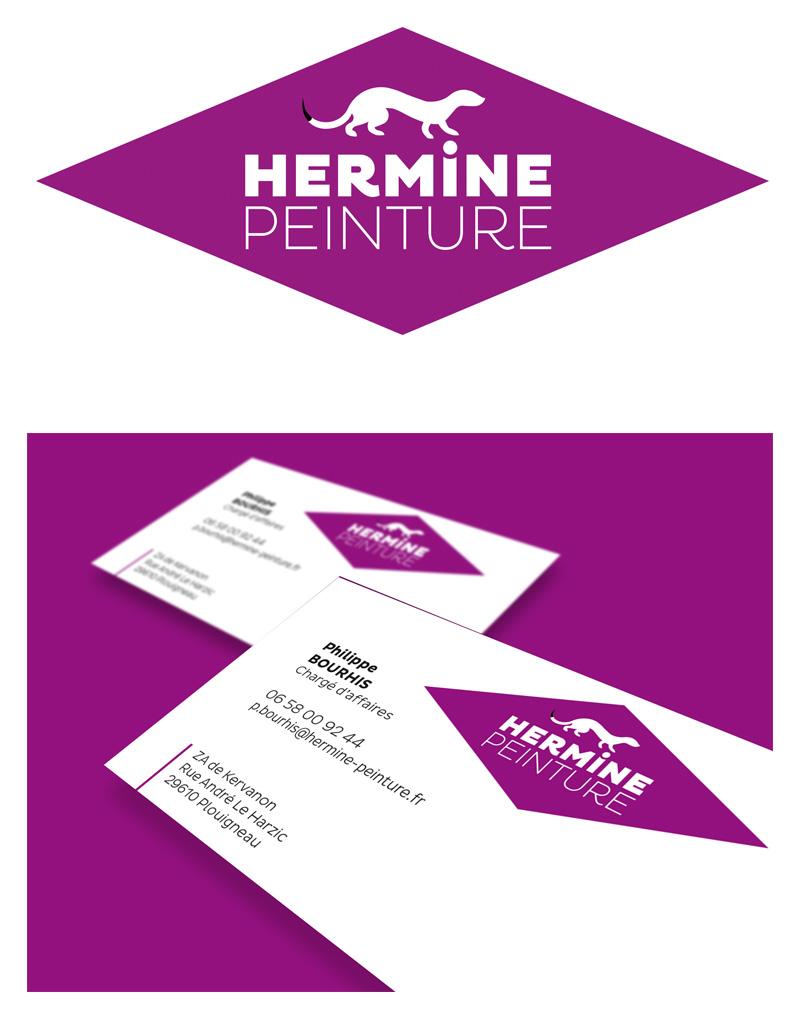 Identité Hermine Peinture