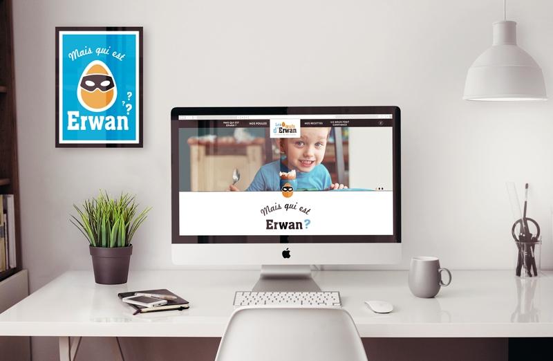 Les œufs d'Erwan, la home page du site