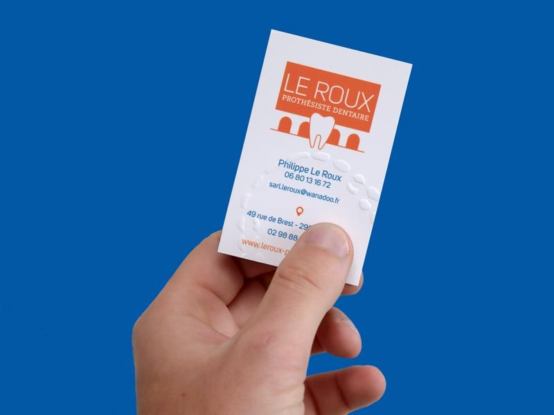 Carte de visite Prothésiste Le Roux