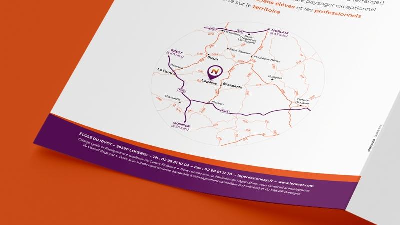 Pochette de documents Nouvelle identité visuelle de l'école d'agriculture Le Nivot - logo
