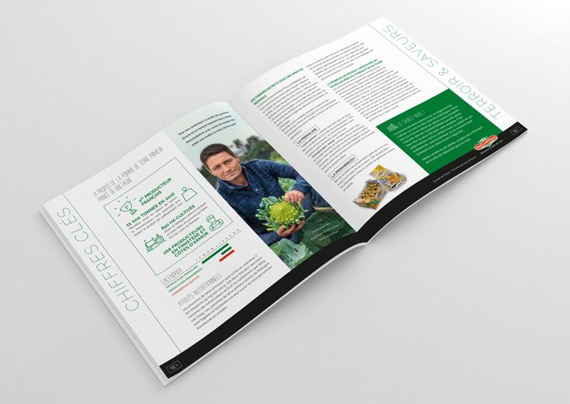 Création type magazine par l'agence Appaloosa des dossiers de relation presse Prince de Bretagne