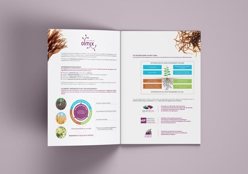 univers de marque Olmix : une brochure pour le plant care