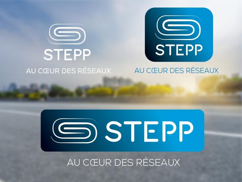 Stepp logos indetité visuelle charte graphique au cœur des réseaux