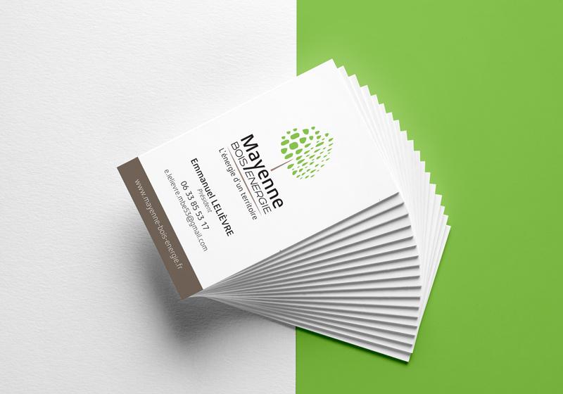 Société SIC Maynne énergie carte de visite conception de logo