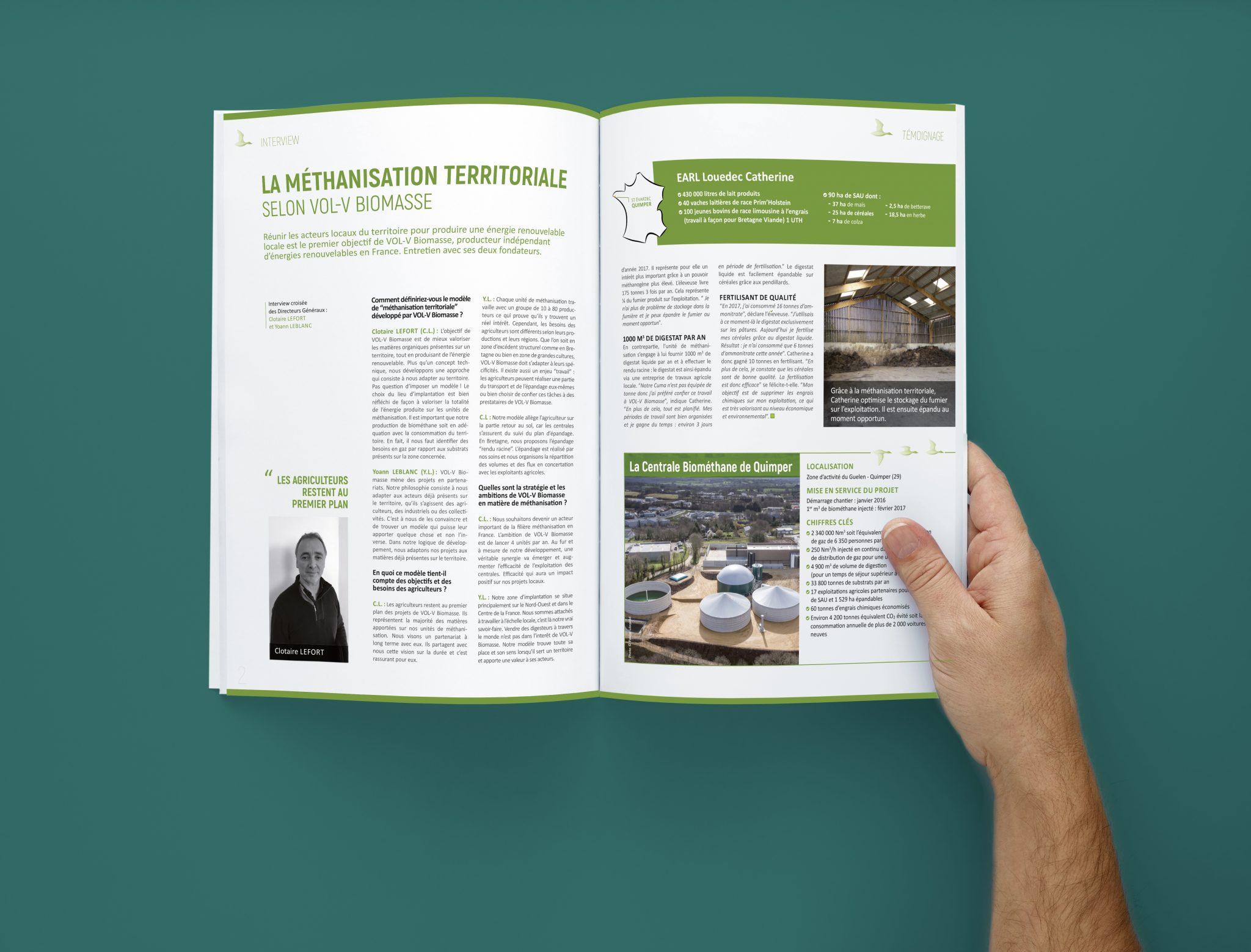 Vol-v méthanisation agriculteur Agence communication
