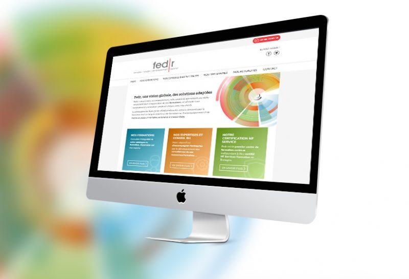 Réalisation du site web Fedr conseil RH