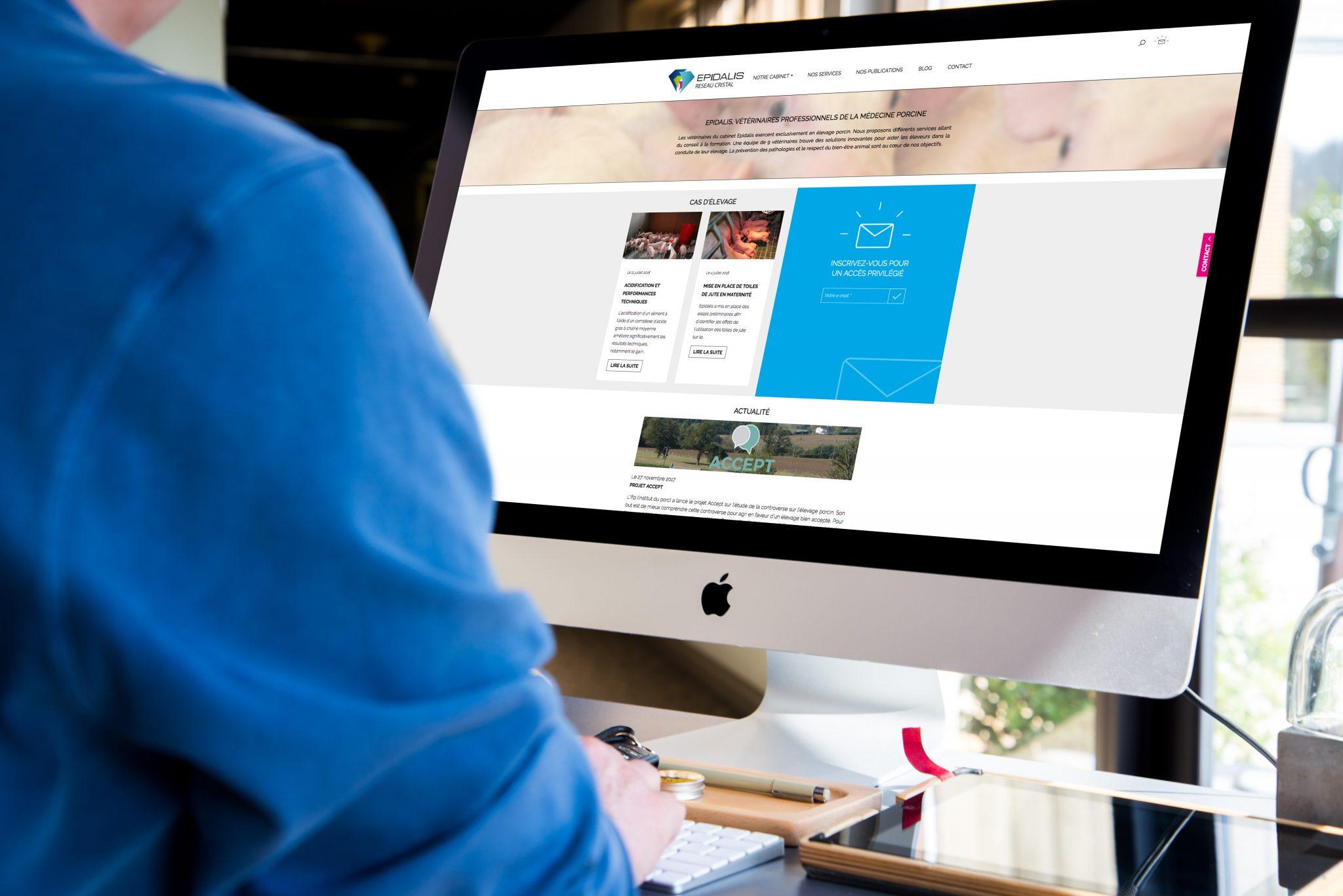 Un site internet responsive pour les vétérinaires d'Epidalis