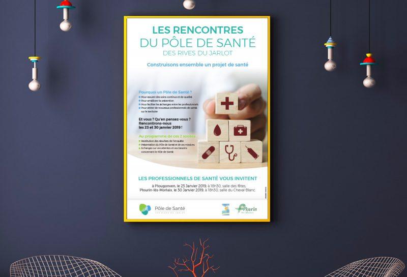 Création Affiche Pole santé médical Morlaix