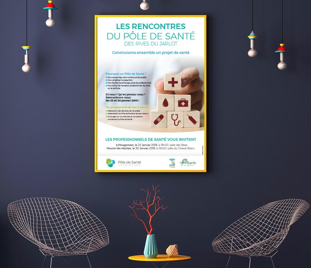 Création Affiche Les rencontres du Pôle de Santé Morlaix