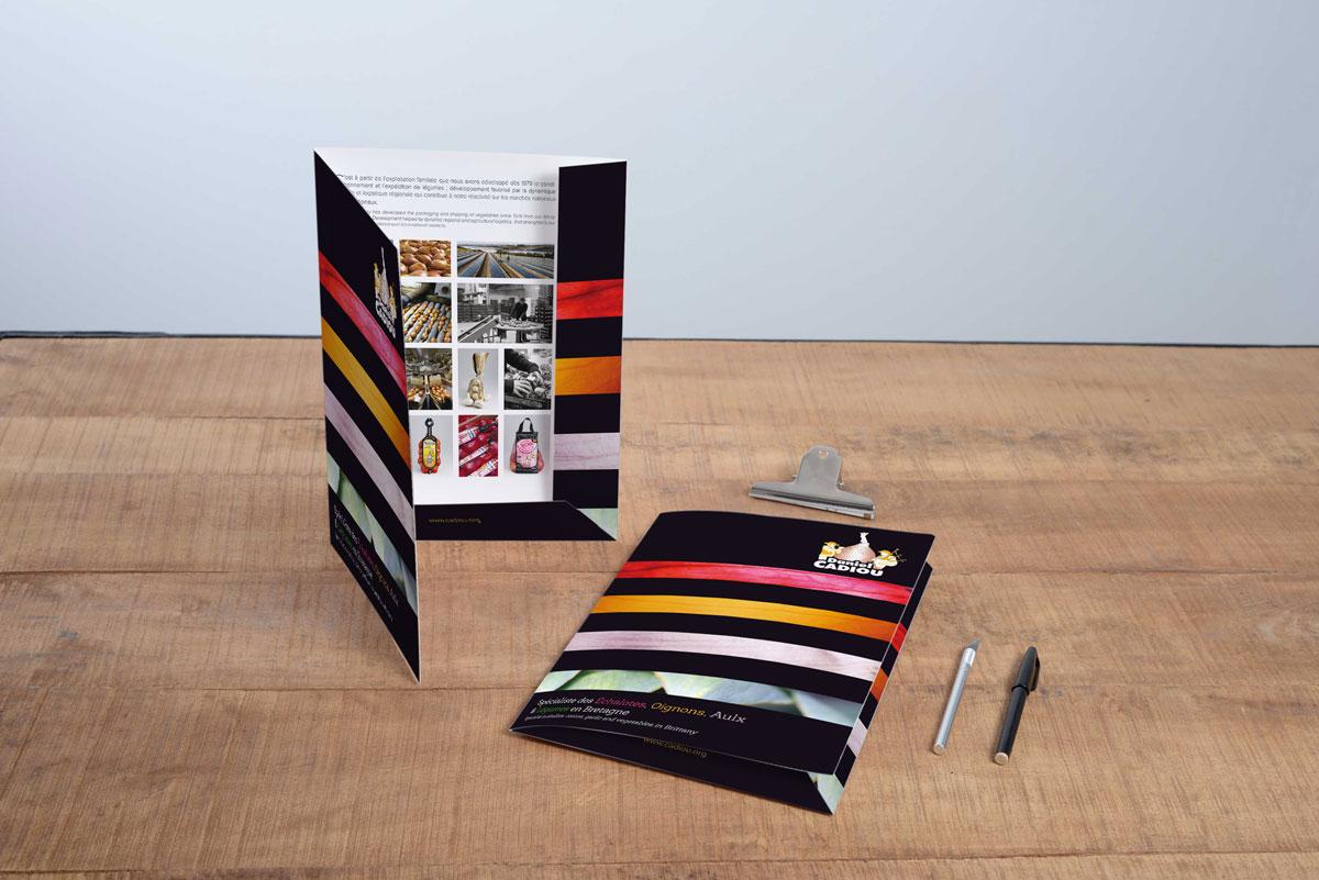 Une pochette attractive et colorée pour un producteur local