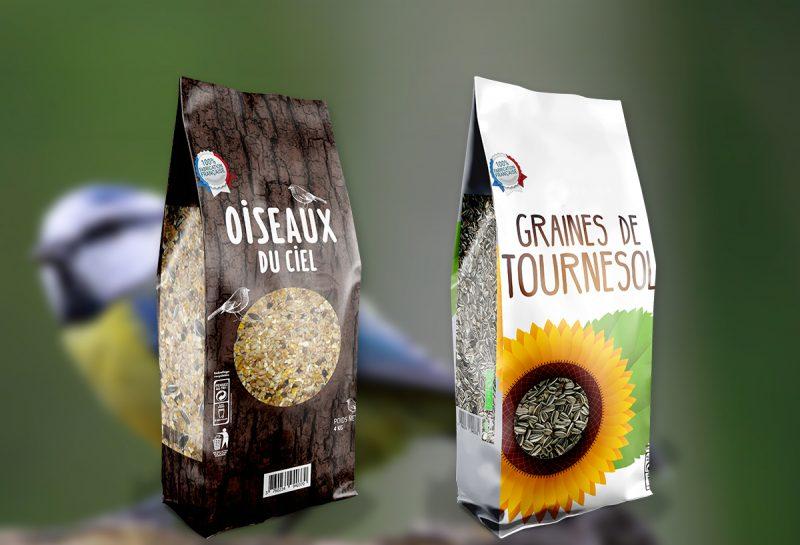 Des sacs de graines grand public