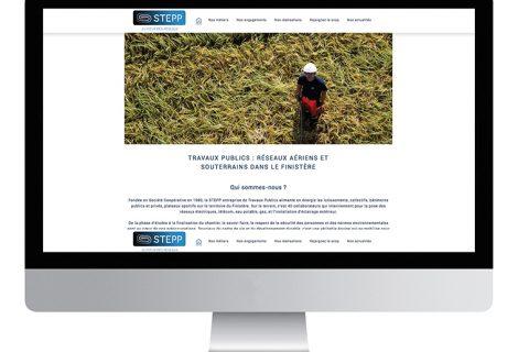 Un site web pour représenter Stepp, une Scop de travaux publics