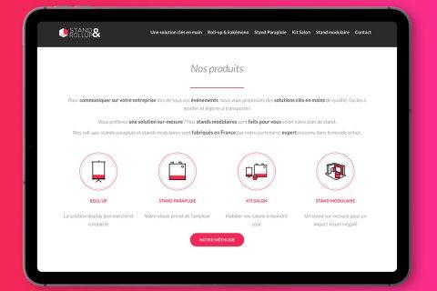 Un site dédié au display et au stand modulaire