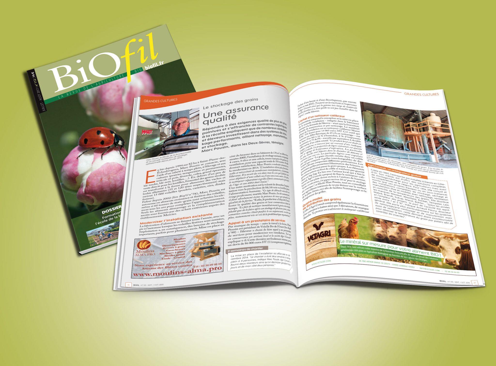 Encart de publicité FAF agriculture