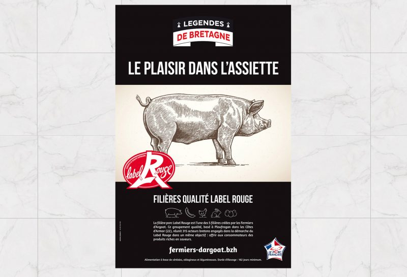 Affiche viande porc