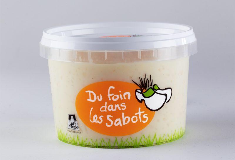 Pot de riz au lait Du foin dans les sabots