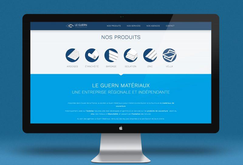 Un site vitrine pour Le Guern matériaux