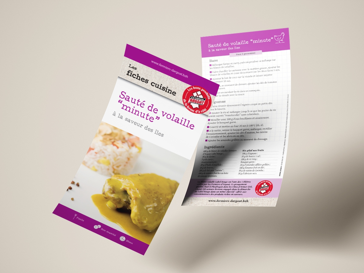Fiche recette Sauté de volaille minute