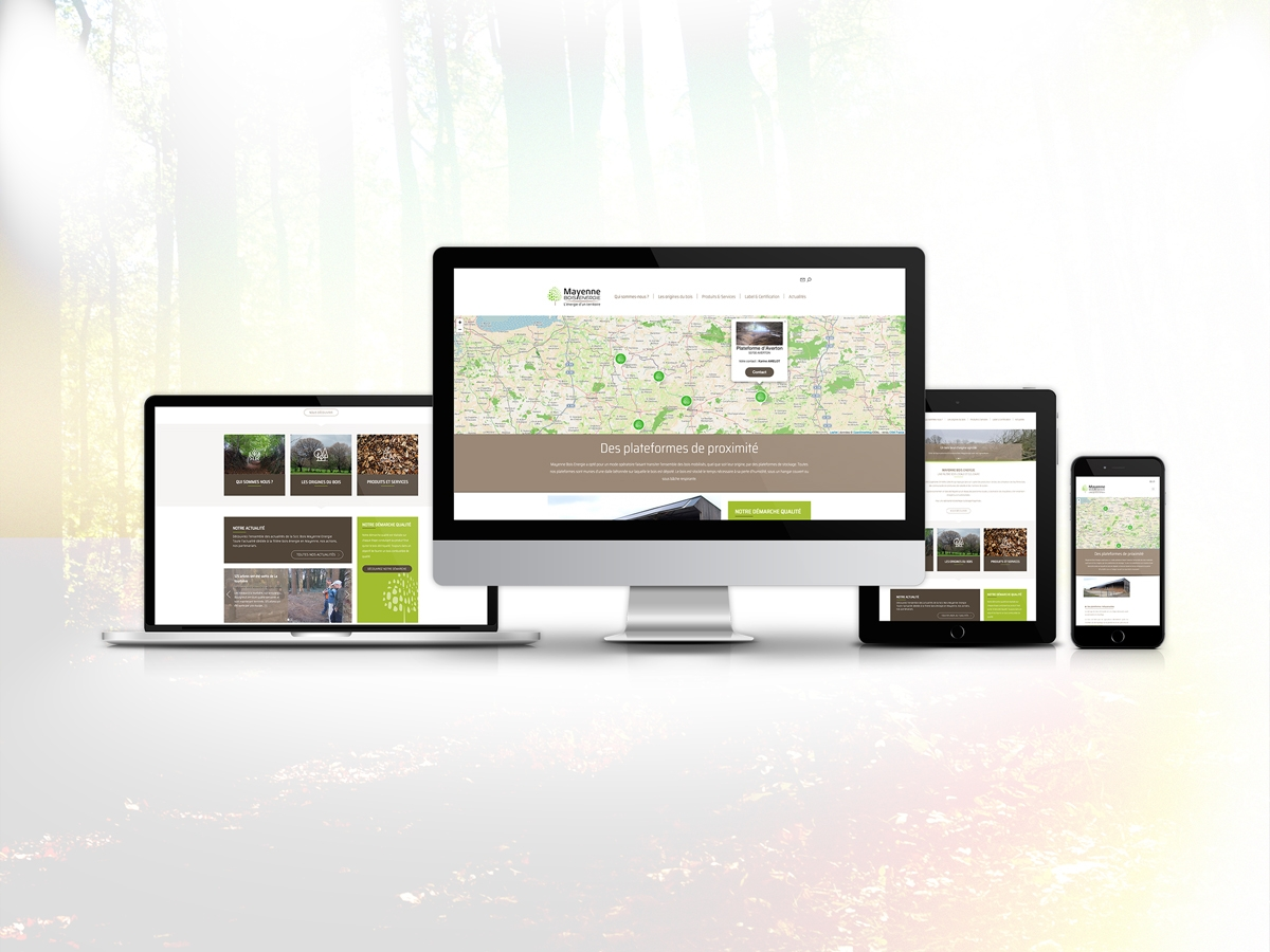 Création site internet Finistere Morlaix de Mayenne bois Energie Responsive design