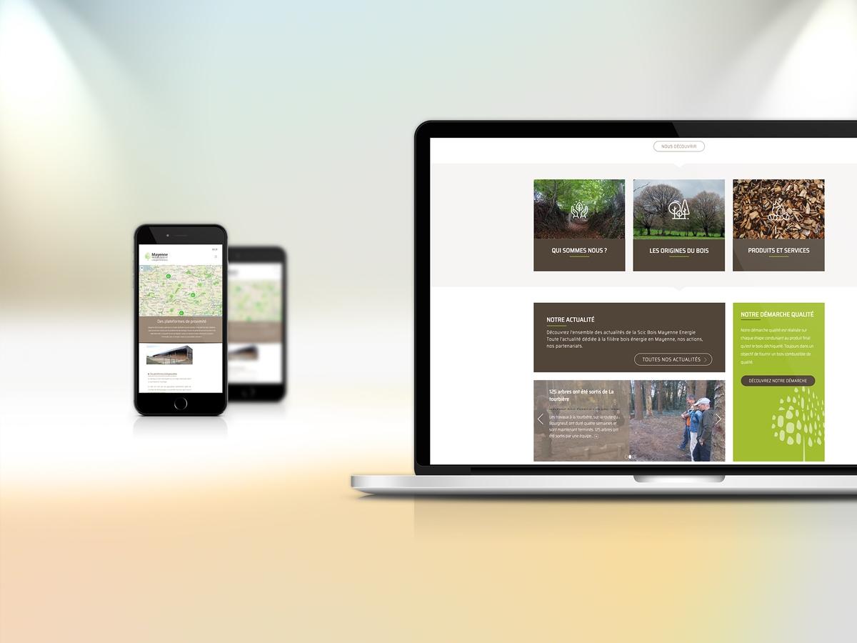 Création site internet Finistere Morlaix de Mayenne bois Energie version tablette